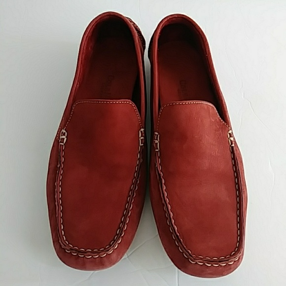 e4c3b0b1fb4 Cole Haan Shoes - COLE HAAN COUNTRY RED SUEDE LOAFERS SIZE 10.